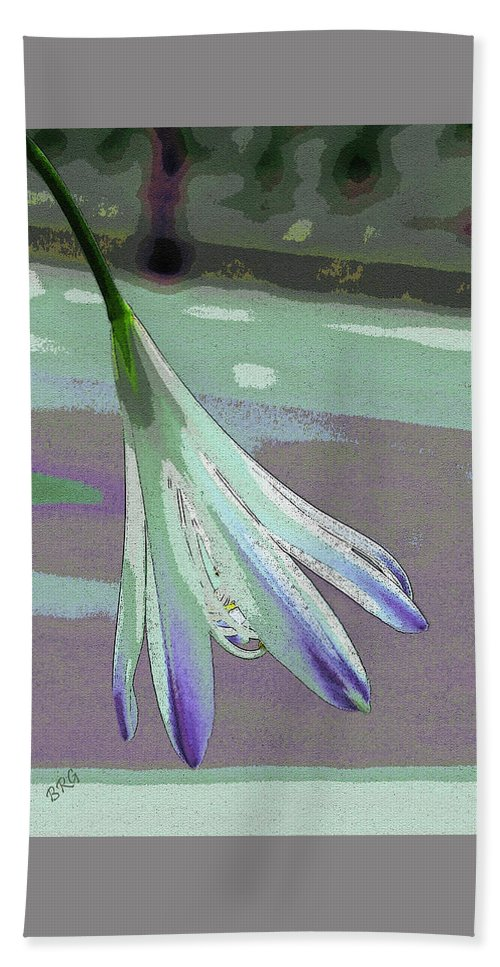 Botanical Abstract Beach Towel featuring the photograph Reclining Lily Abstract by Ben and Raisa Gertsberg