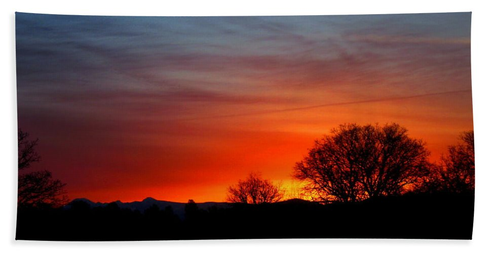 Dawn Beach Towel featuring the photograph Red Dawn by Joyce Dickens