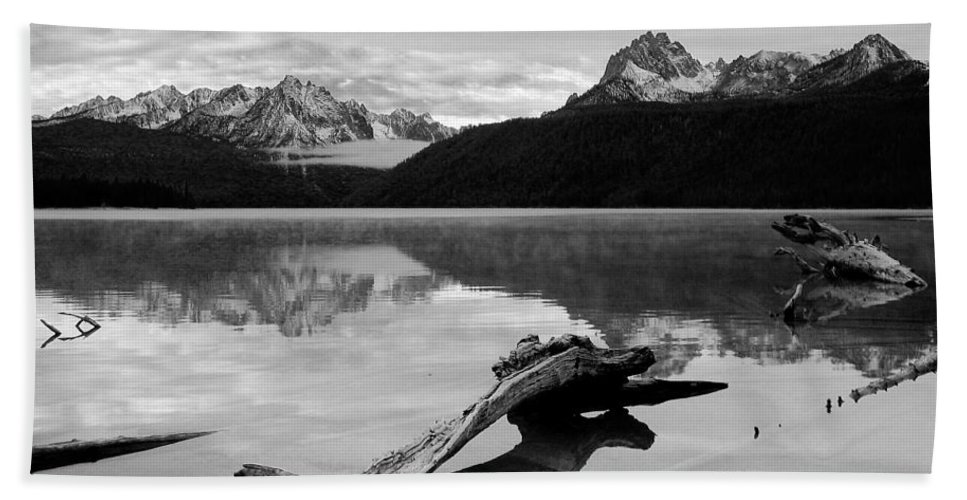 Red Fish Beach Towel featuring the photograph Red Fish Lake Idaho by Robert Woodward