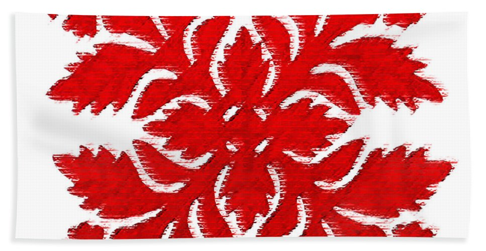 Hawaii Iphone Cases Beach Sheet featuring the digital art Red Hibiscus 2 by James Temple