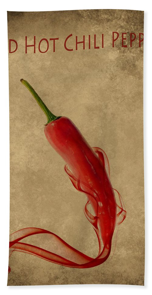 Spice Beach Towel featuring the photograph Red Hot Chili Pepper Poster by Eti Reid