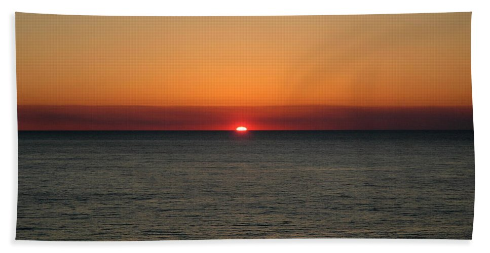 Beach Beach Towel featuring the photograph Red Sky At Night by Roe Rader