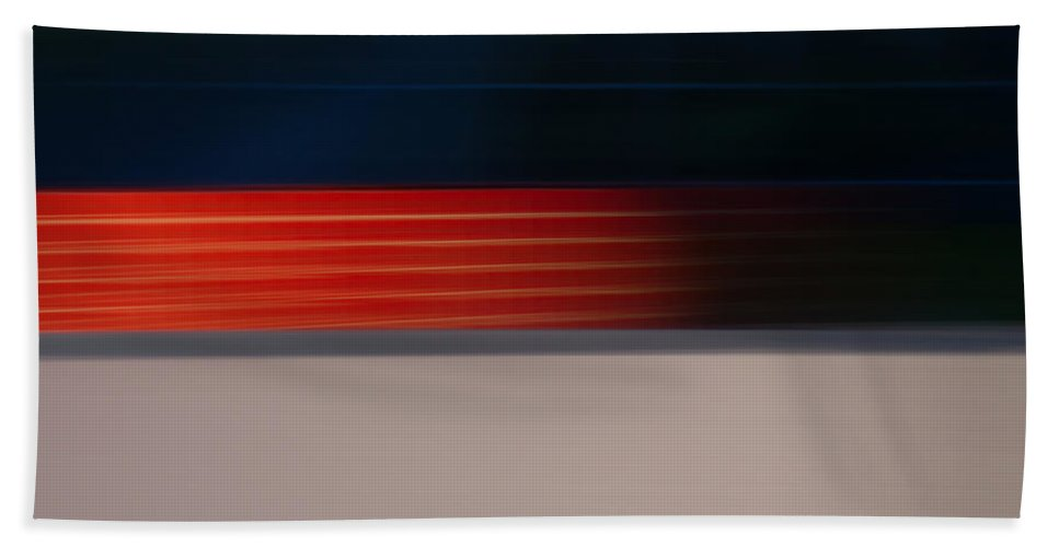 Motion Blur Beach Towel featuring the photograph Red Stripe Disappearing by Dayne Reast