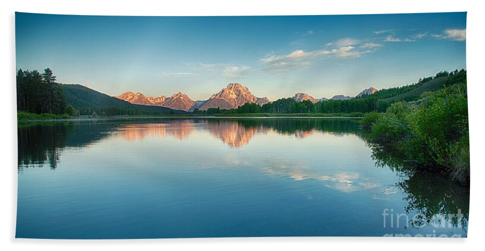 Tetons Beach Towel featuring the photograph Reflected by Claudia Kuhn