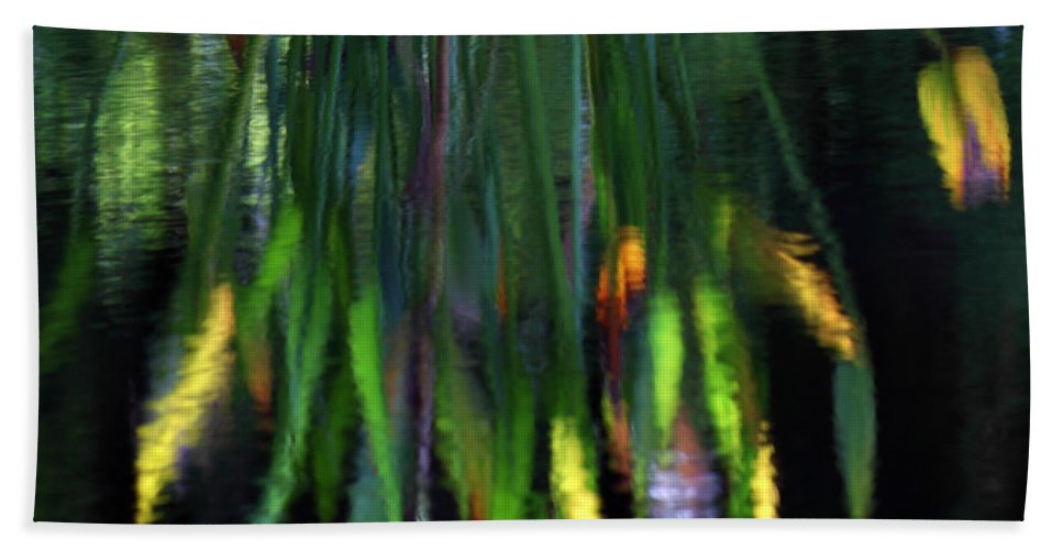 Impressionism Beach Towel featuring the photograph Reflection In The Pond by James Eddy