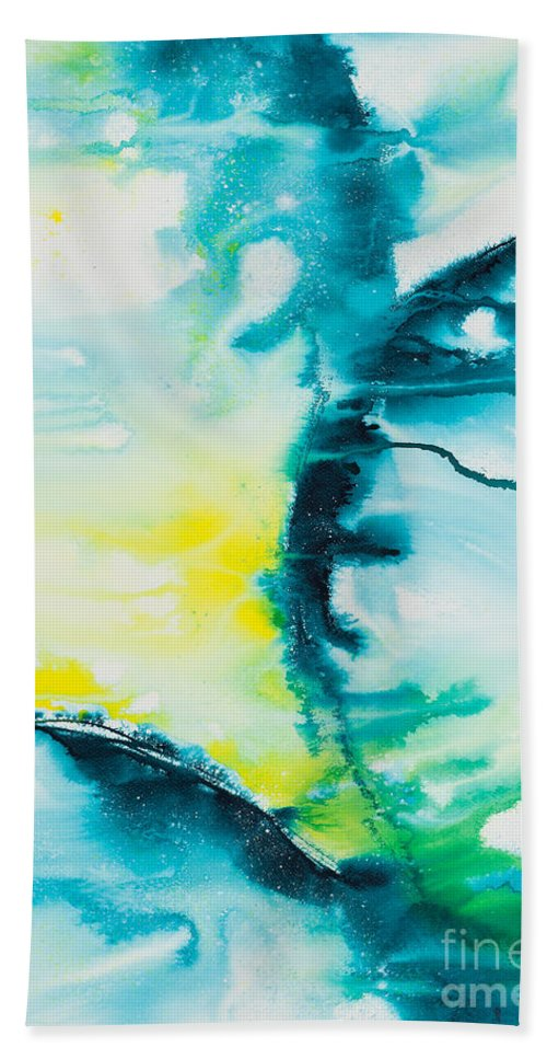 Ilisa Millermoon Beach Towel featuring the painting Reflections Of The Universe No. 2025 by Ilisa Millermoon