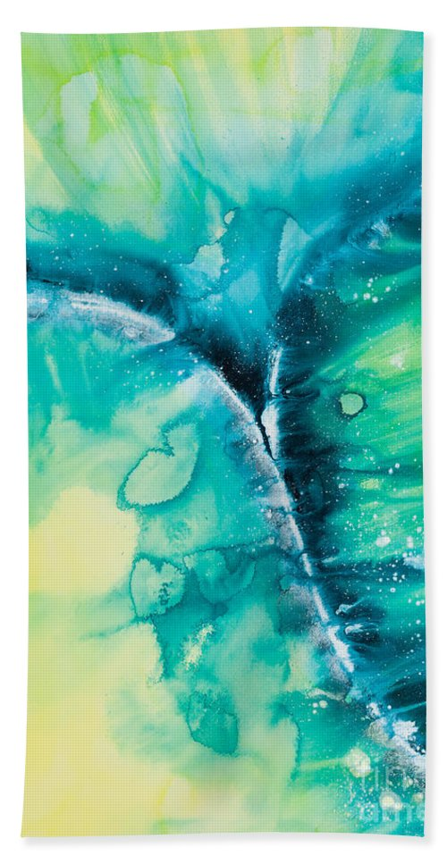 Ilisa Millermoon Beach Towel featuring the painting Reflections Of The Universe No. 2026 by Ilisa Millermoon