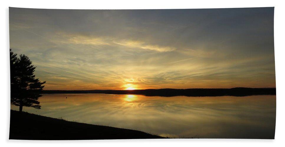 Sunset Beach Towel featuring the photograph Reflector-set by Ronald Raymond
