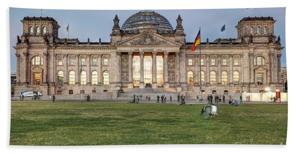 Reichstag Beach Towel featuring the photograph Reichstag Berlin Germany by Julie Woodhouse