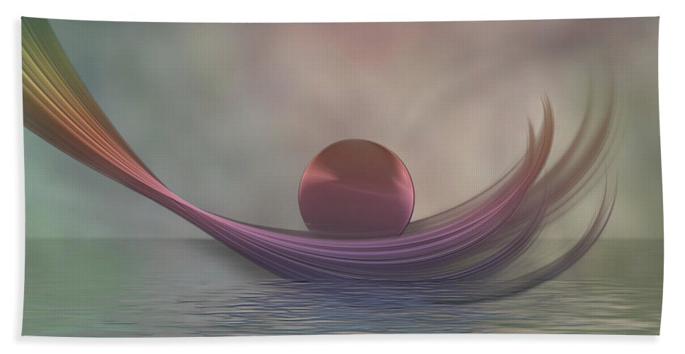 Atmpsphere Beach Towel featuring the digital art Relax by Gabiw Art