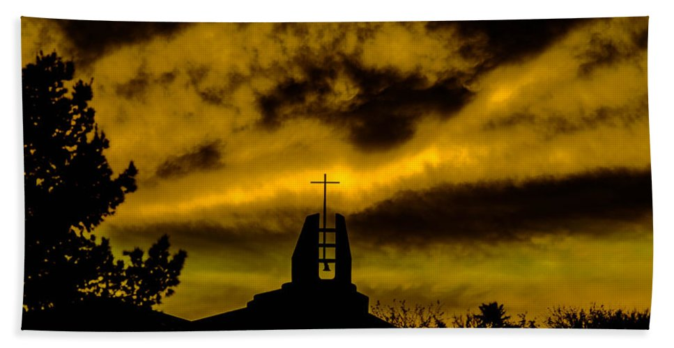 Religious Beach Towel featuring the photograph Religious Moment by Michael Moriarty