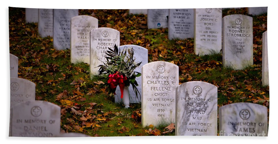 Arlington National Cemetery Beach Towel featuring the photograph Remember Our Dead by Jerry Fornarotto