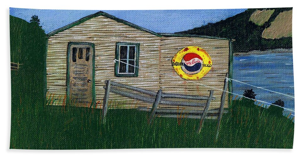 Remember When Beach Towel featuring the painting Remember When - Pepsi by Barbara Griffin