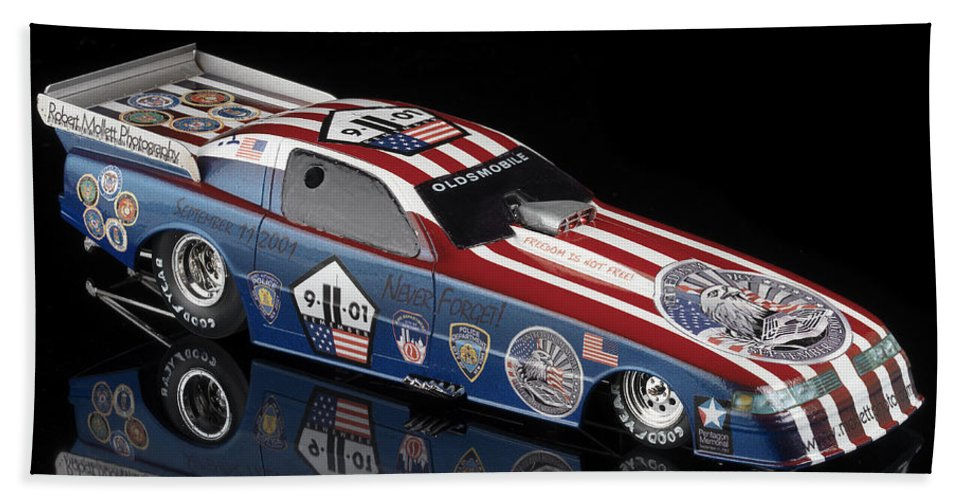 Drag Racing Beach Towel featuring the photograph Remembering 9 11 by Robert Mollett
