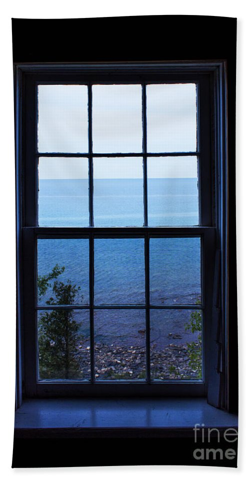 Window Beach Towel featuring the photograph Remote by Barbara McMahon