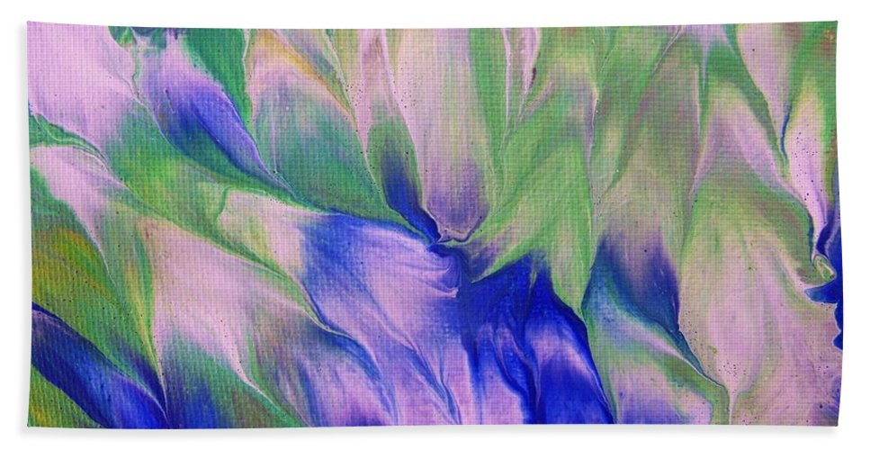 Garden Beach Towel featuring the painting Renewal by Jewell McChesney