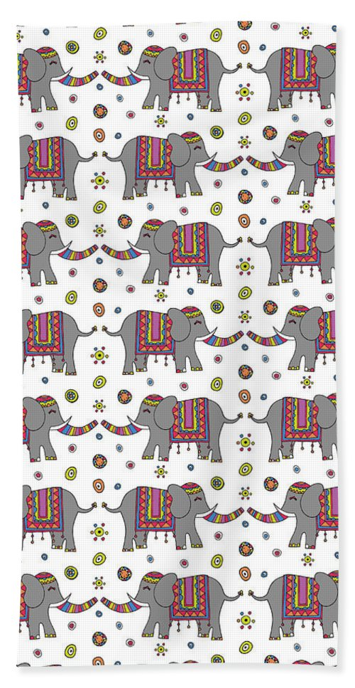 Susan Claire Beach Towel featuring the photograph Repeat Print - Indian Elephant by MGL Meiklejohn Graphics Licensing