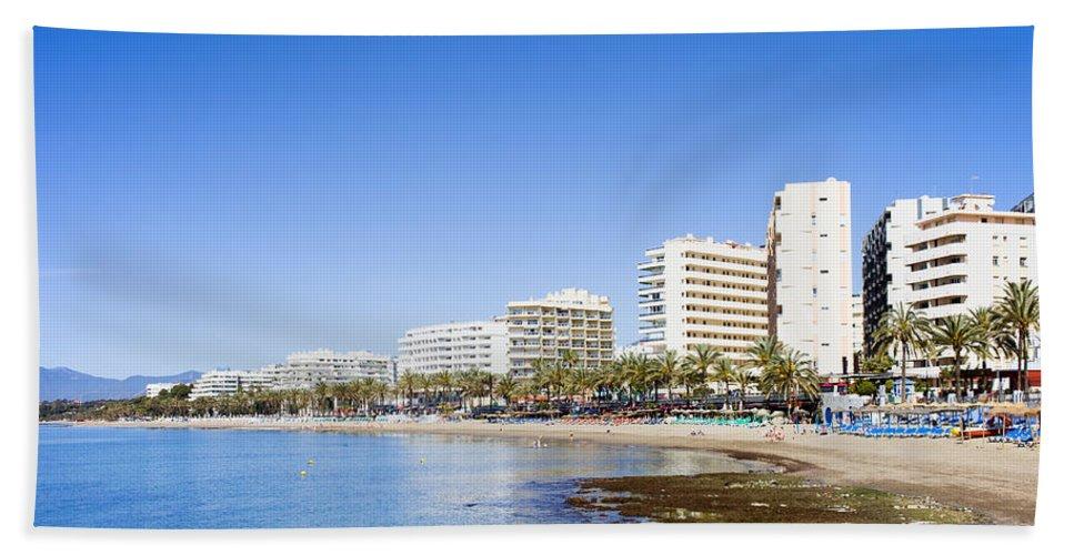 Marbella Beach Towel featuring the photograph Resort City Of Marbella In Spain by Artur Bogacki