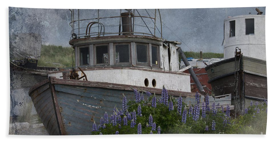 Boat Beach Towel featuring the photograph Retired Boat by David Arment