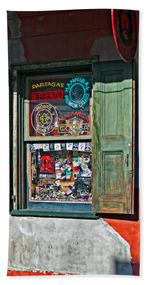 French Quarter Beach Towel featuring the photograph Rev. Zombie's Voodoo Shop by Steve Harrington