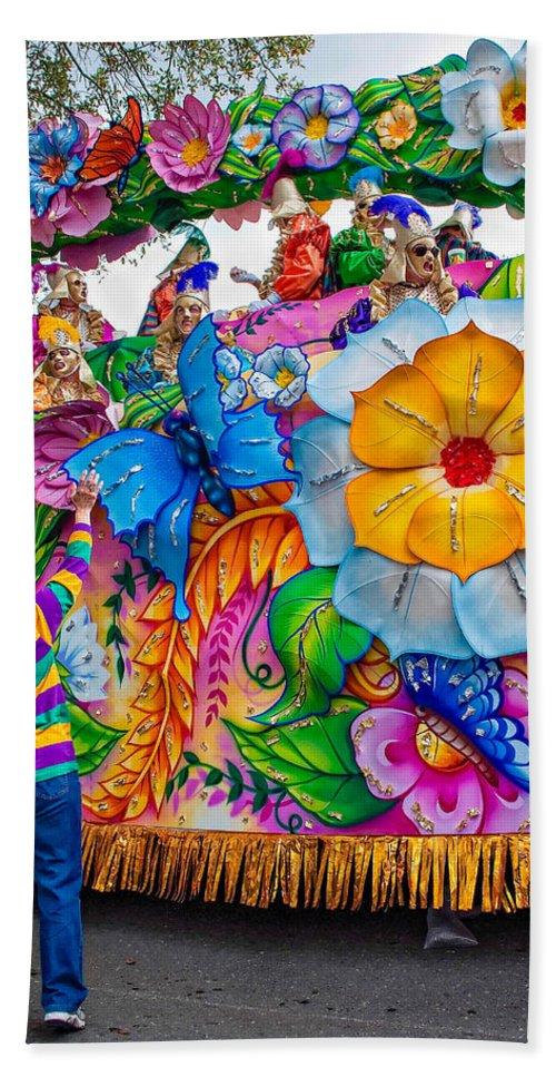 New Orleans Beach Towel featuring the photograph Rex Mardi Gras Parade by Steve Harrington