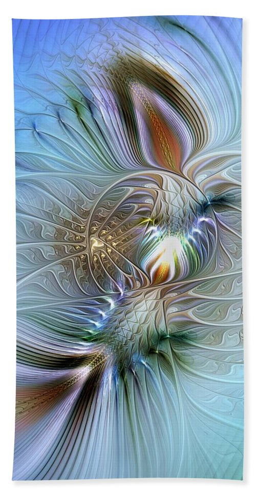 Abstract Beach Towel featuring the digital art Rhapsodic Rendezvous by Casey Kotas