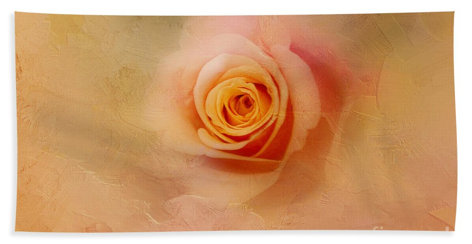 Rose Beach Towel featuring the photograph Right To The Core by A New Focus Photography