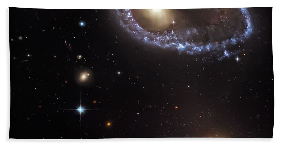 Universe Beach Towel featuring the photograph Ring Galaxy by Jennifer Rondinelli Reilly - Fine Art Photography