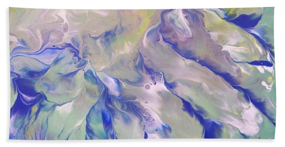 Abstract Beach Towel featuring the painting Rippling Grace by Jewell McChesney
