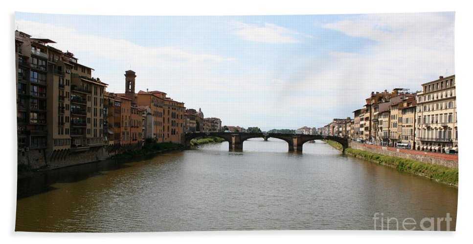 River Beach Towel featuring the photograph River Arno by Christiane Schulze Art And Photography