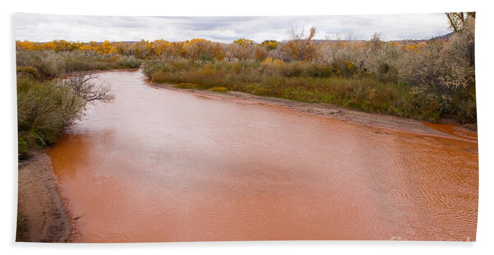 Landscapes Beach Towel featuring the photograph River Red New Mexico by Roselynne Broussard