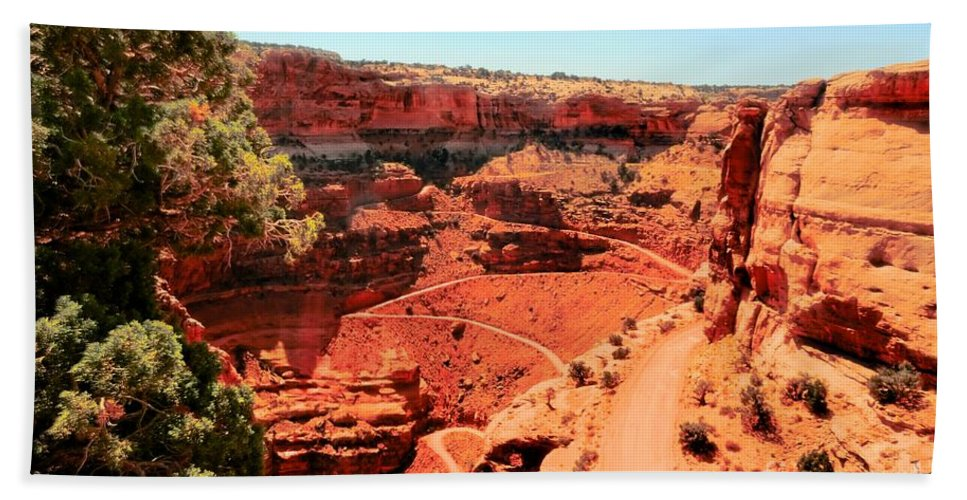 Canyon Beach Towel featuring the photograph Roads Through The Park by Kathleen Struckle