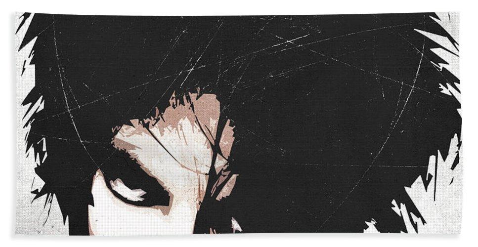 Robert Beach Towel featuring the digital art Robert Smith by Filippo B