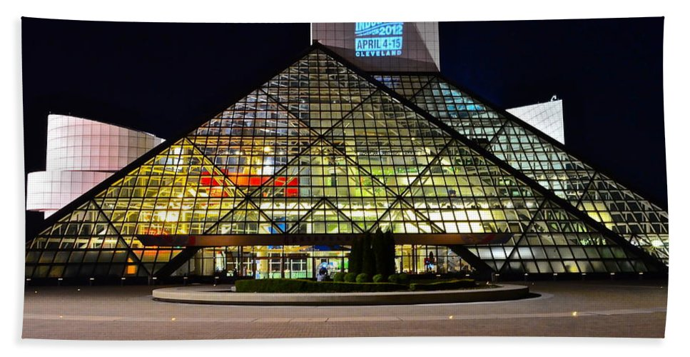 Rock And Roll Beach Towel featuring the photograph Rock n Roll hall of Fame Induction by Frozen in Time Fine Art Photography