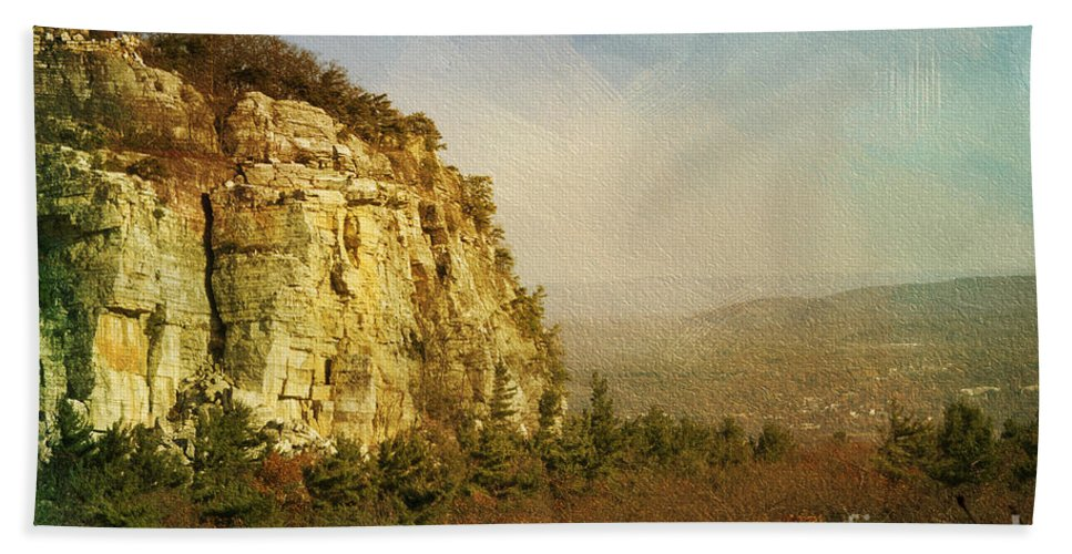 Cliff Beach Towel featuring the photograph Rock Of Ages by A New Focus Photography
