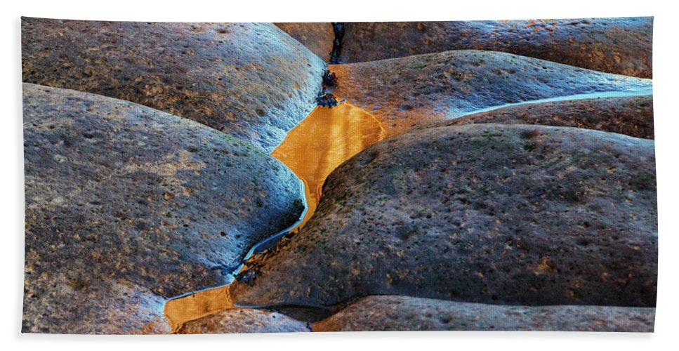 Pebbles Beach Towel featuring the photograph Rock Patterns by David Pringle