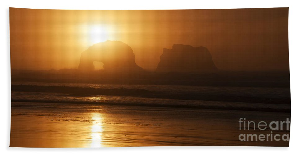 Rockaway Beach Beach Towel featuring the photograph Rockaway Beach by Vivian Christopher