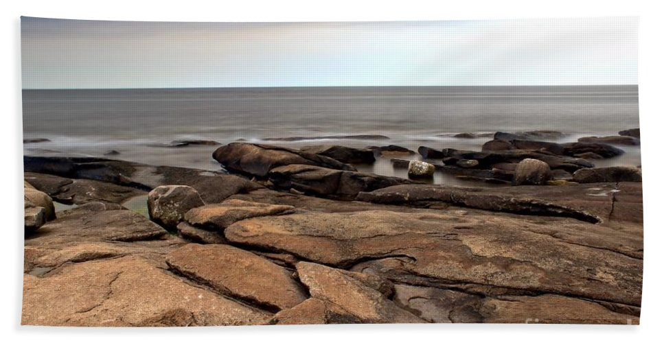 Rockport Beach Towel featuring the photograph Rockport Rocks by Kenny Glotfelty