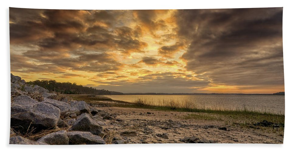 Beach Beach Towel featuring the photograph Rocky Beach by Phill Doherty