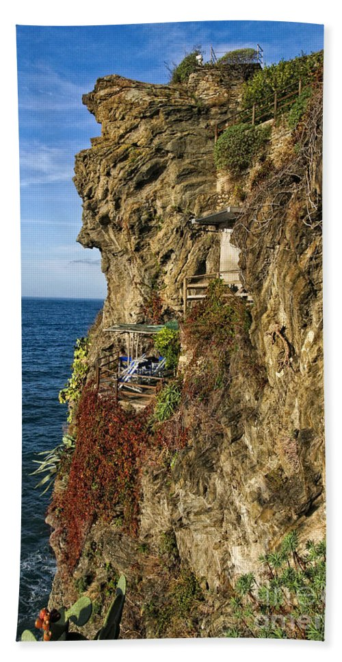 Italy Beach Towel featuring the photograph Rocky Cinque Terre by Timothy Hacker