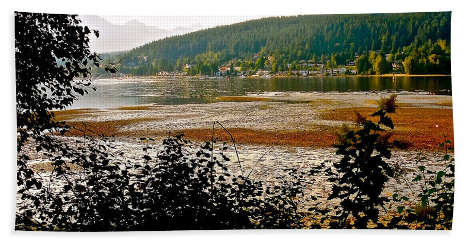 Low Tide At Rocky Point Beach Towel featuring the photograph Rocky Point Port Moody by Sher Nasser
