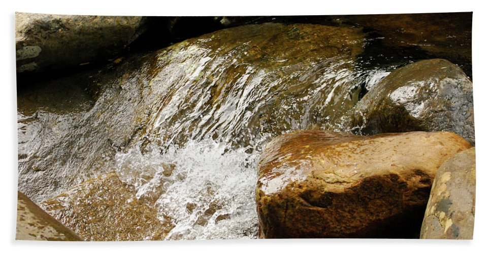Great Smoky Mountains Beach Towel featuring the photograph Rocky Waters by Christi Kraft