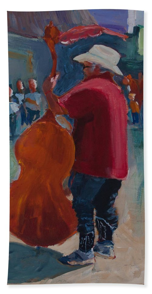 Art Beach Towel featuring the painting Rodney by Paulette B Wright