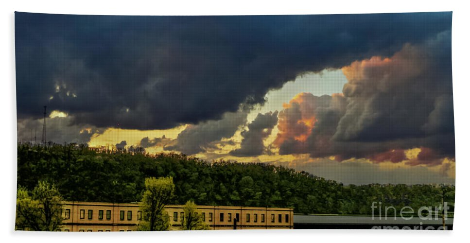 Storm Beach Towel featuring the photograph Storm Clouds Rolling In by Charlie Cliques