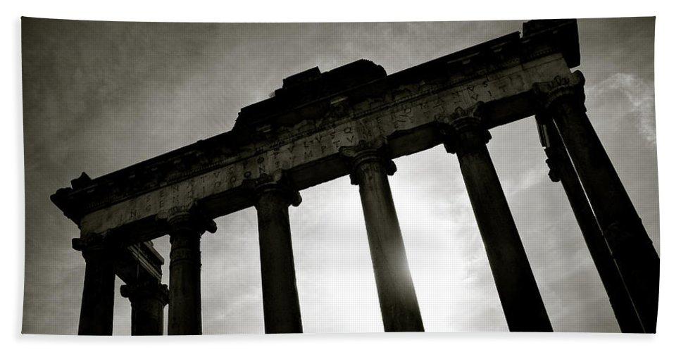 Roman Forum Beach Towel featuring the photograph Roman Forum by Dave Bowman
