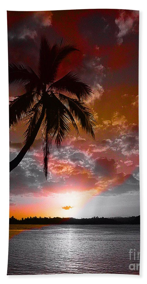 Palm Tree Image Beach Towel featuring the digital art Romance II by Yael VanGruber