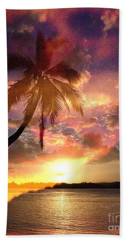 Landscape Beach Towel featuring the digital art Romance by Yael VanGruber