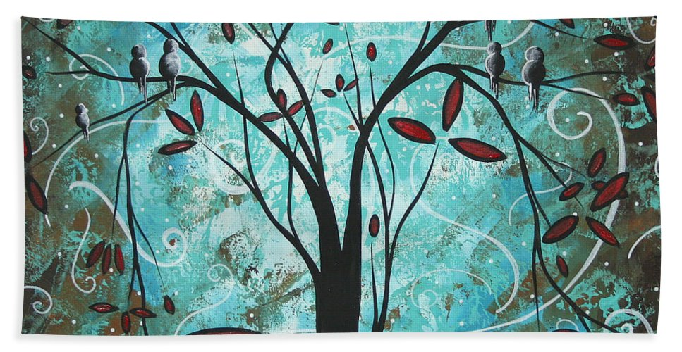 Wall Beach Towel featuring the painting Romantic Evening By Madart by Megan Duncanson