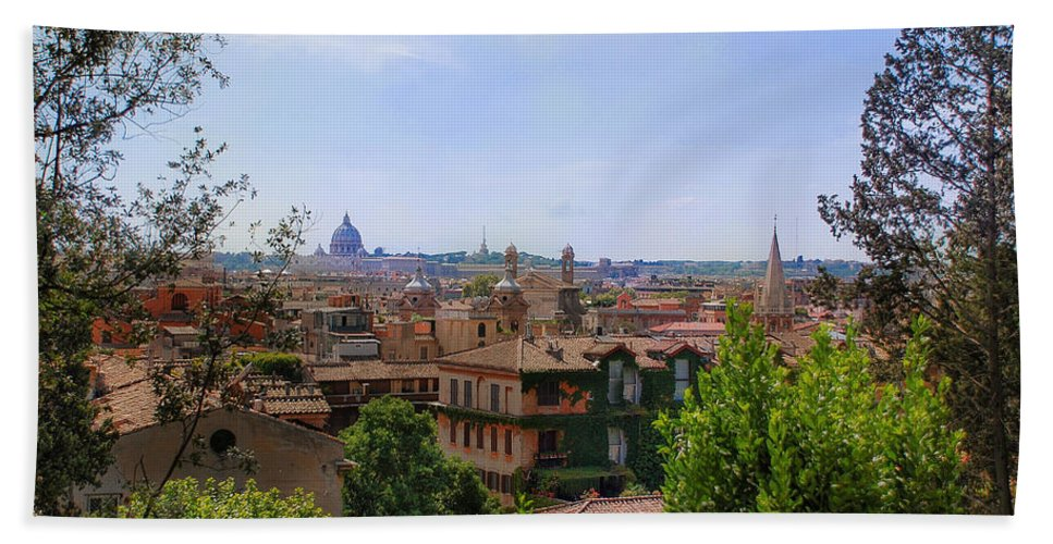 Europe Beach Towel featuring the photograph Rome Rooftop by Dany Lison