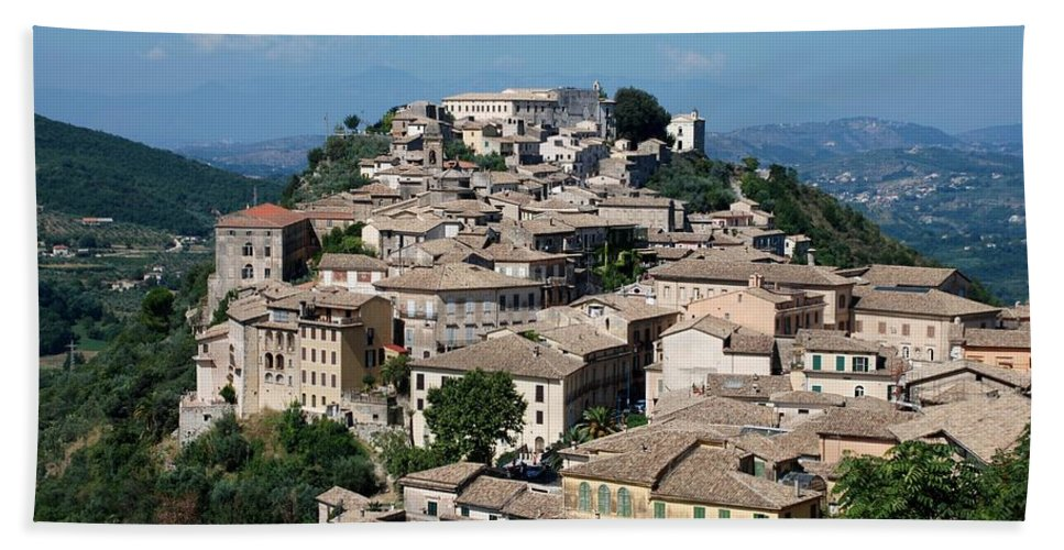 Arpino Beach Towel featuring the photograph Rooftops Of The Italian City by Dany Lison
